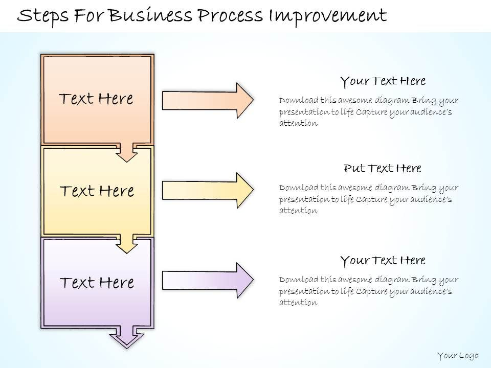 1113 business ppt diagram steps for business process improvement powerpoint template. Black Bedroom Furniture Sets. Home Design Ideas
