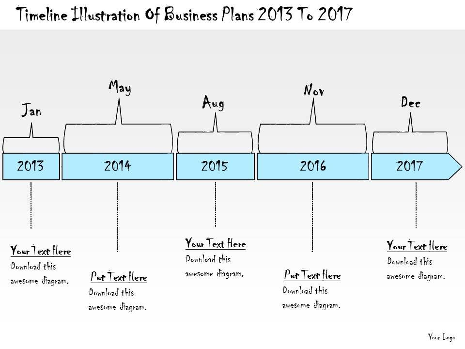 1113_business_ppt_diagram_timeline_illustration_of_business_plans_2013_to_2017_powerpoint_template_Slide01