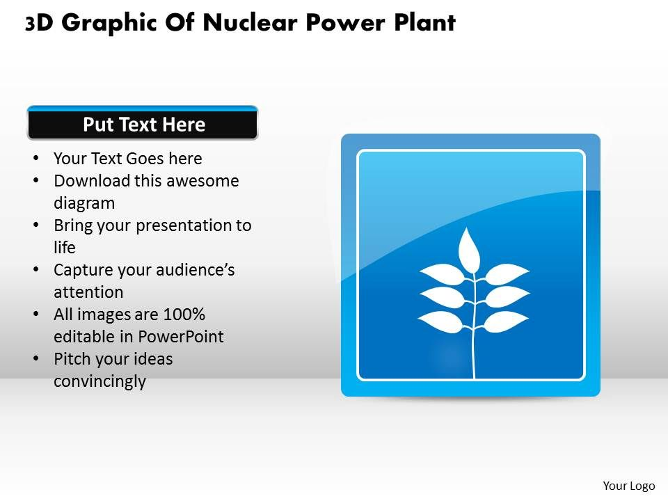 1114 3d graphic of nuclear power plant powerpoint template, Powerpoint templates