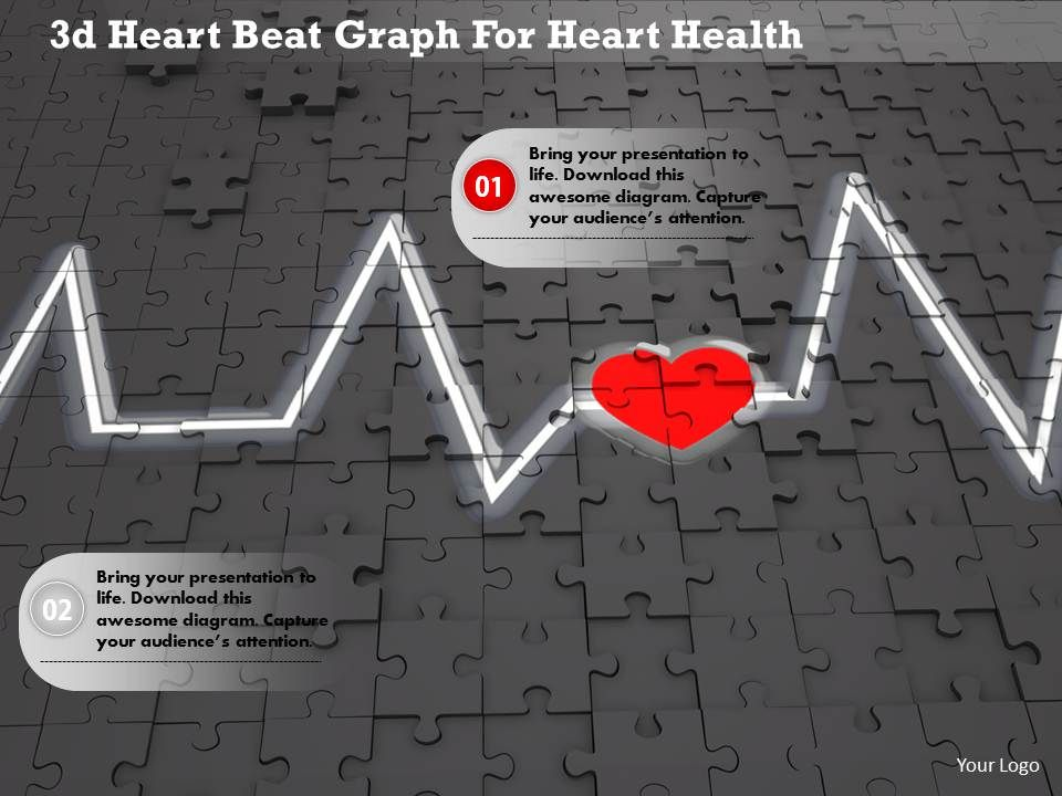 1114 3d Heart Beat Graph For Heart Health Image Graphics For