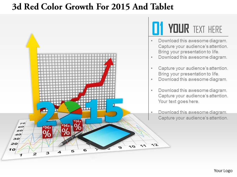 1114_3d_red_color_growth_for_2015_and_tablet_image_graphic_for_powerpoint_Slide01