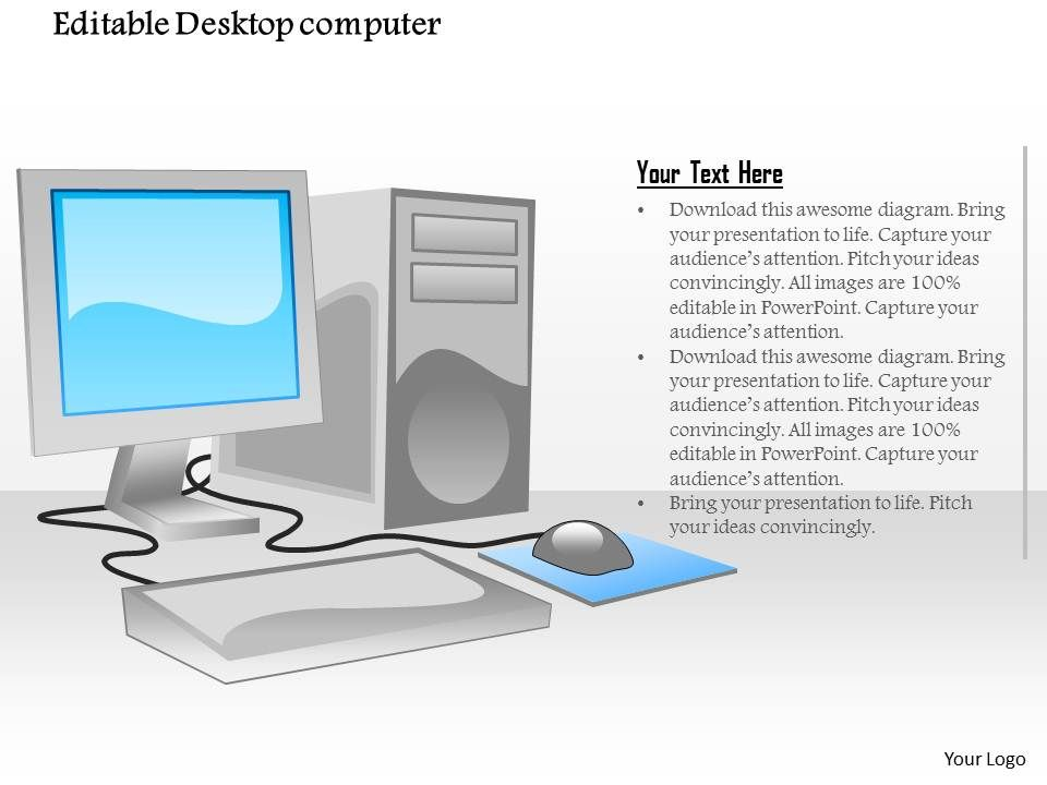 1114_editable_desktop_computer_with_flat_screen_monitor_mouse_and_tower_cpu_ppt_slide_Slide01 62189119 style technology 1 servers 1 piece powerpoint desktop computer diagram at fashall.co