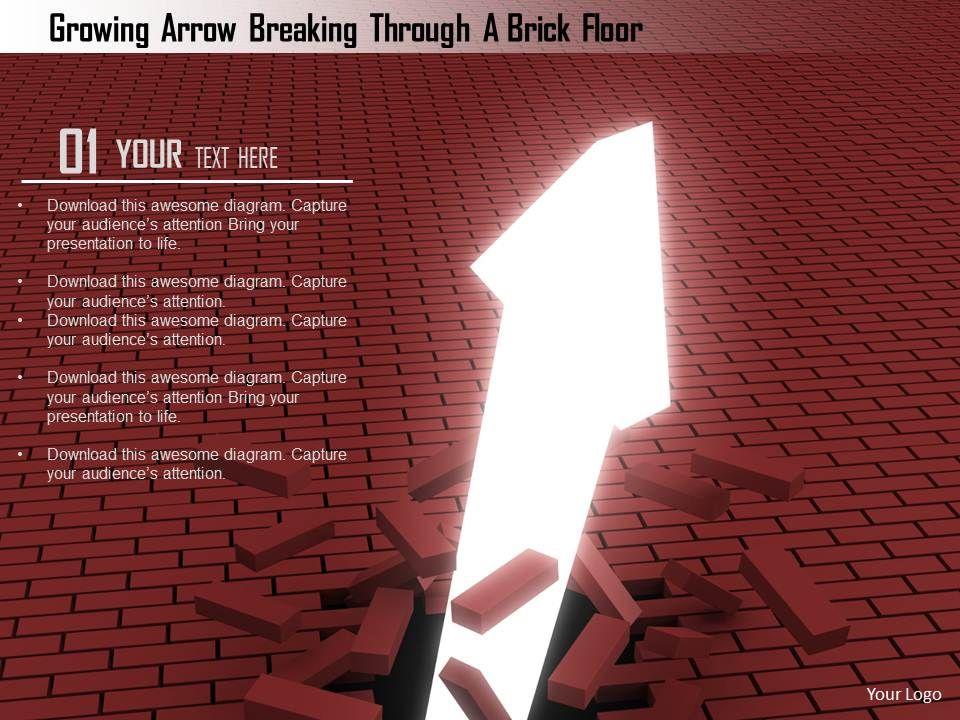 1114_growing_arrow_breaking_through_a_brick_floor_image_graphics_for_powerpoint_Slide01