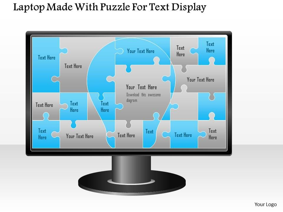 1114_laptop_made_with_puzzle_for_text_display_powerpoint_template_Slide01