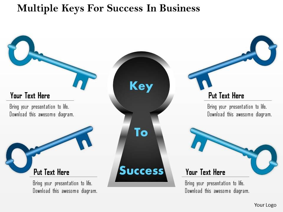 1114_multiple_keys_for_success_in_business_powerpoint_template_Slide01