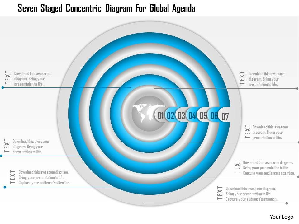 1114_seven_staged_concentric_diagram_for_global_agenda_powerpoint_template_Slide01