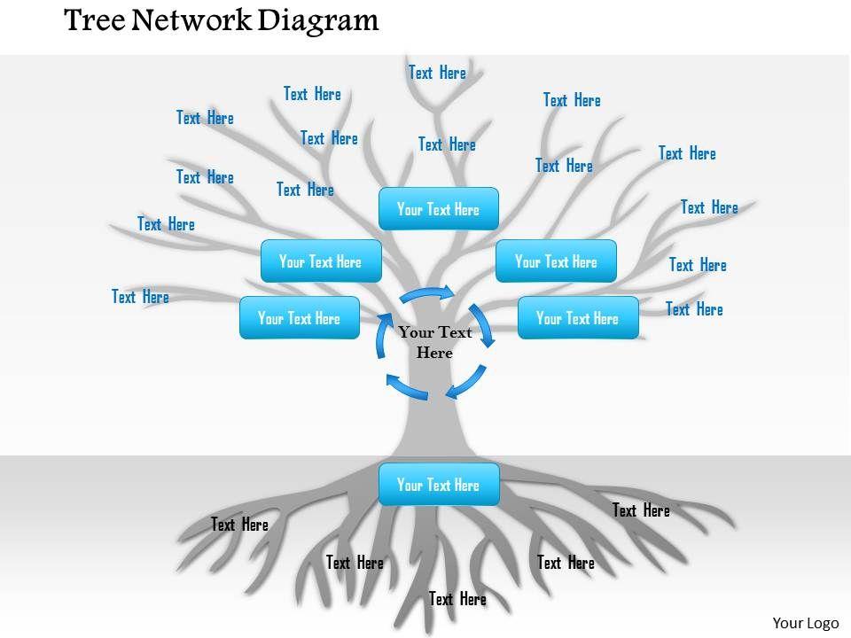1114 Tree Network Diagram Powerpoint Presentation Powerpoint Slide