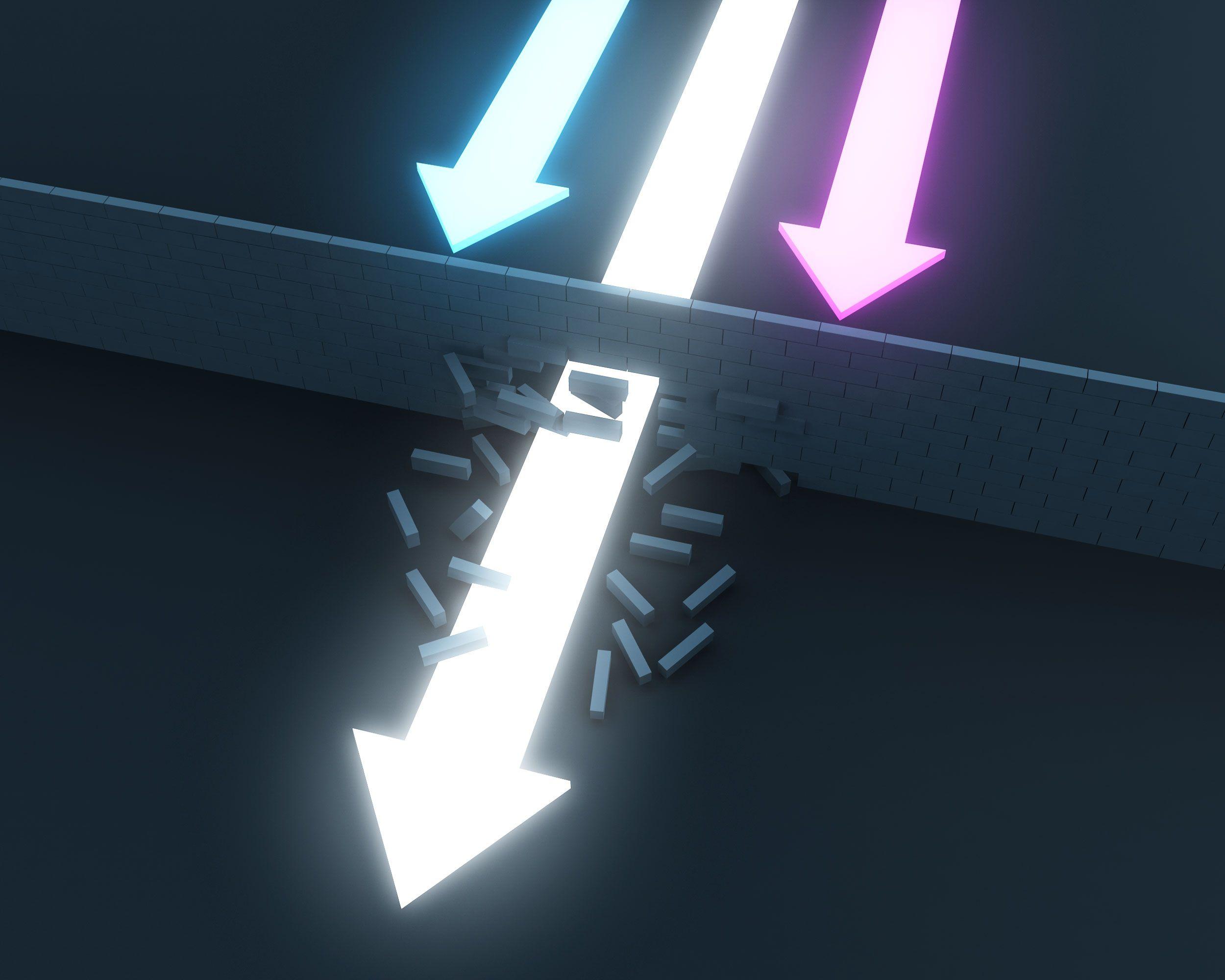1114_white_arrow_breaking_through_brick_wall_for_success_stock_photo_Slide01