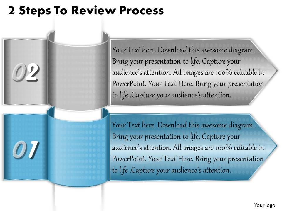 1213 business ppt diagram 2 steps to review process powerpoint, Presentation templates