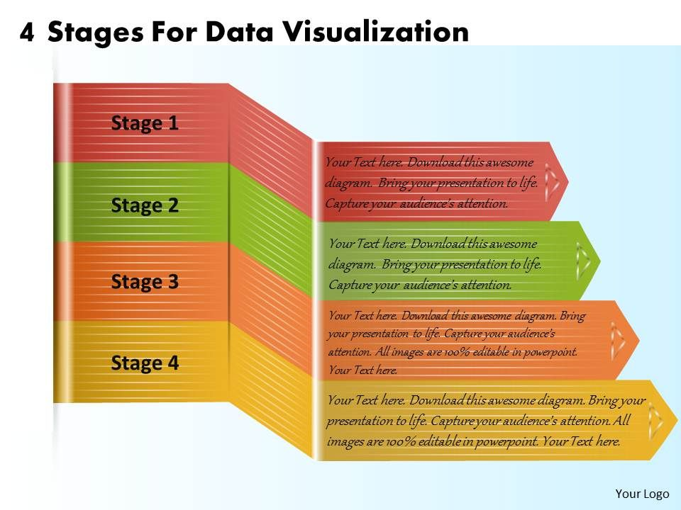 1213 Business Ppt Diagram 4 Stages For Data Visualization Powerpoint