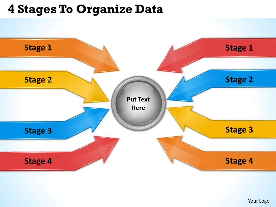 1213 business ppt diagram 4 stages to organize data for Data management strategy template