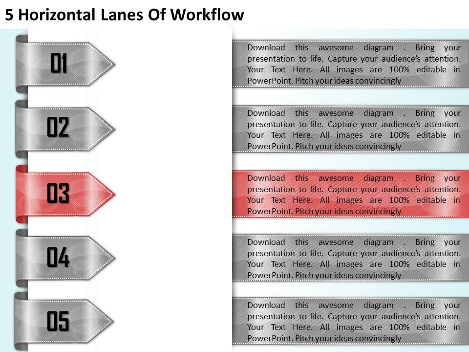 1213_business_ppt_diagram_5_horizontal_lanes_of_workflow_powerpoint_template_Slide04