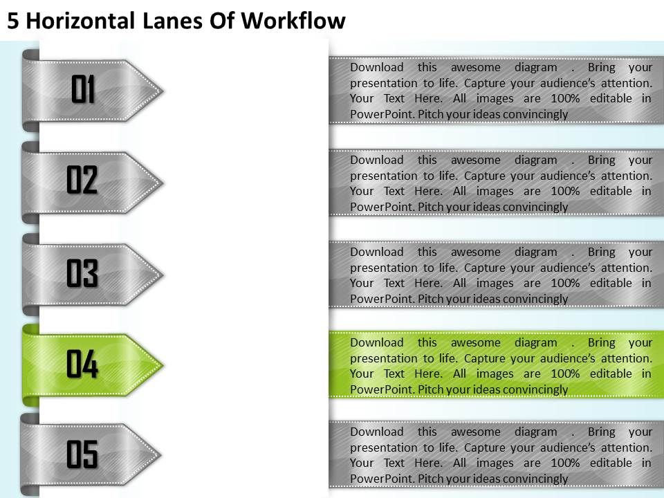 1213_business_ppt_diagram_5_horizontal_lanes_of_workflow_powerpoint_template_Slide05