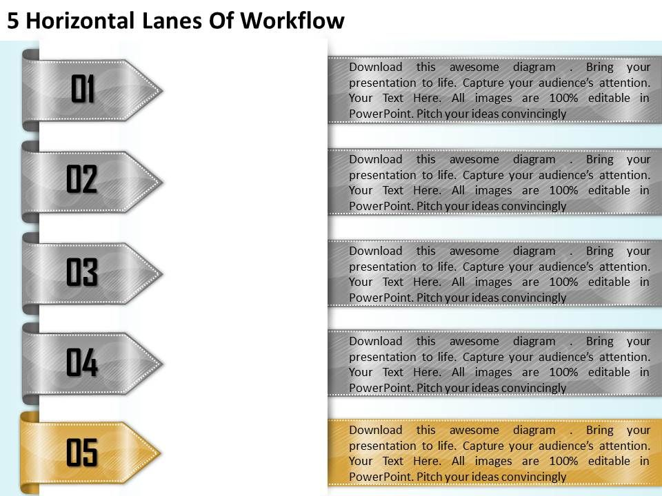 1213_business_ppt_diagram_5_horizontal_lanes_of_workflow_powerpoint_template_Slide06