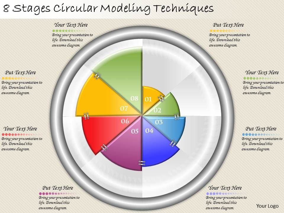 1213_business_ppt_diagram_8_stages_circular_modelling_techniques_powerpoint_template_Slide01