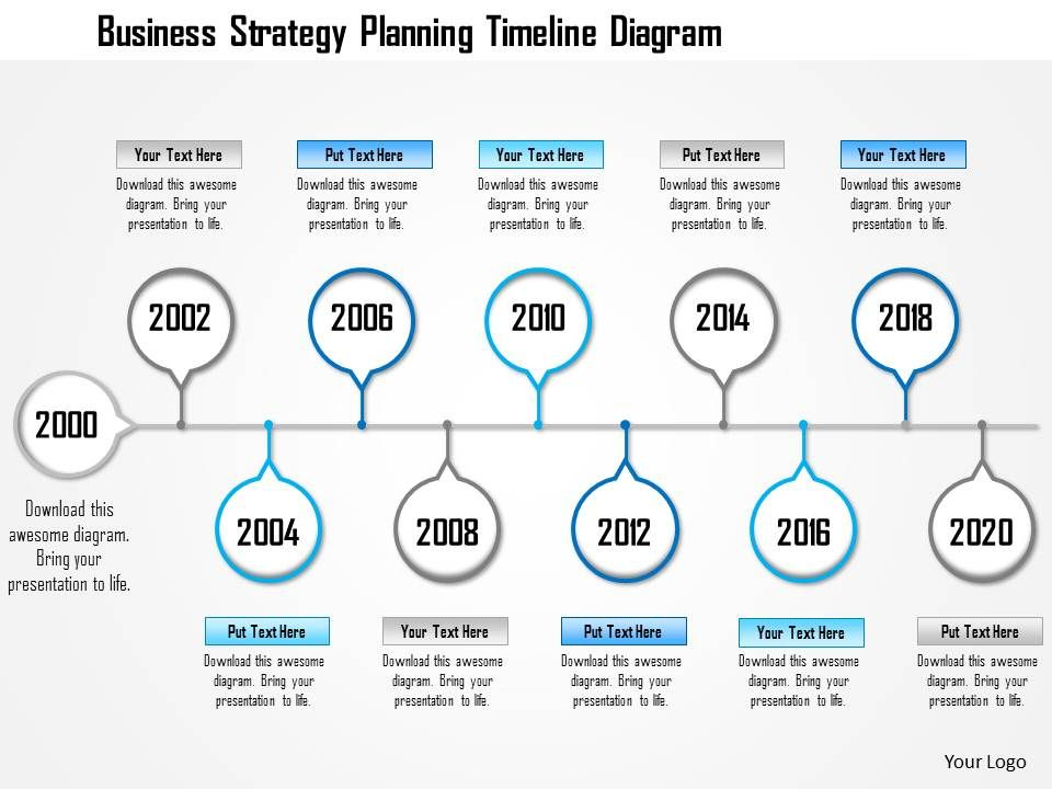 1214 Business Strategy Planning Timeline Diagram Powerpoint