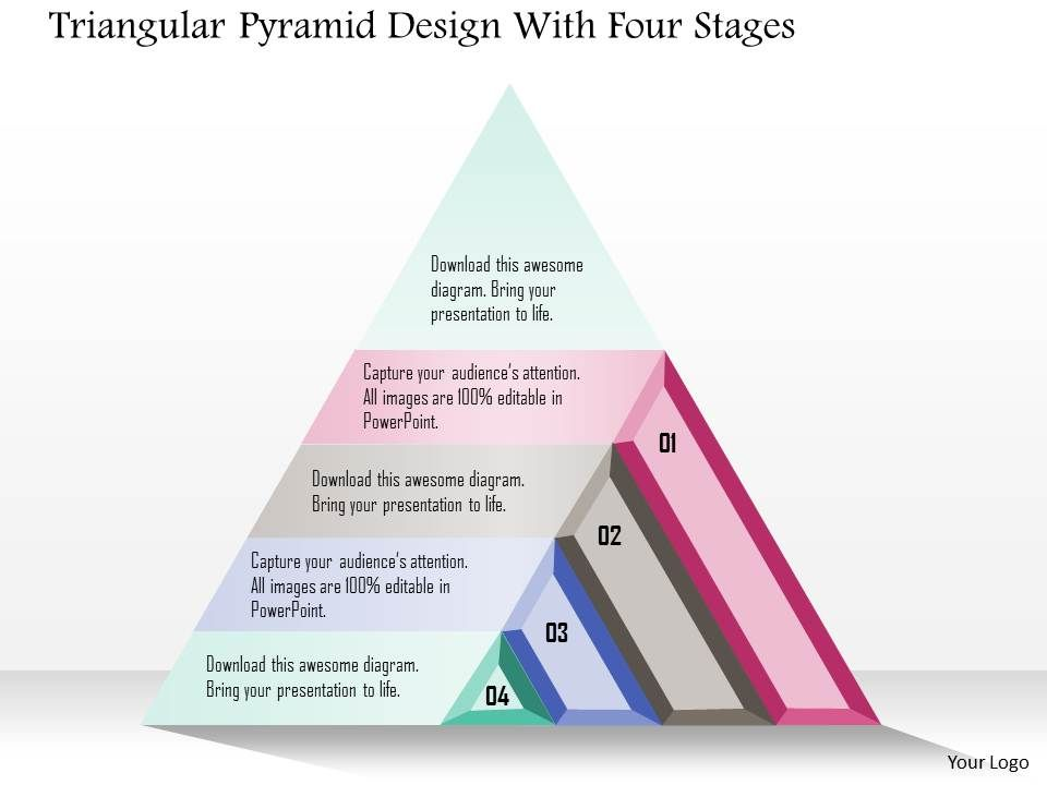 1214_triangular_pyramid_design_with_four_stages_powerpoint_template_Slide01