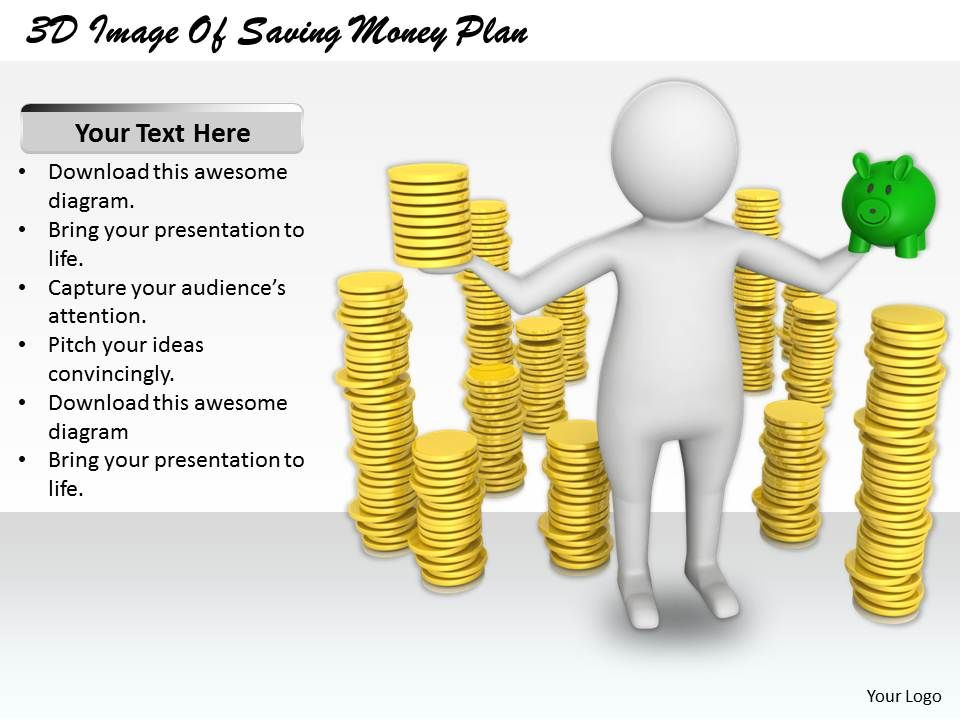 1813_3d_image_of_saving_money_plan_ppt_graphics_icons_powerpoint_Slide01