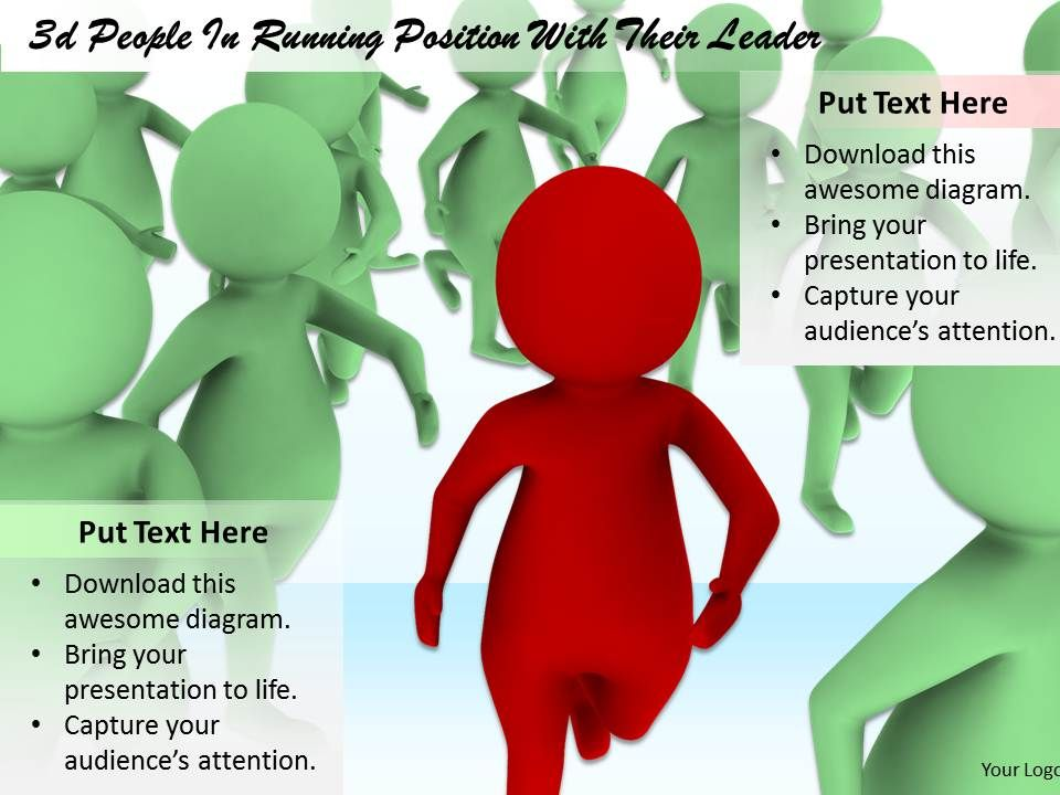 1813_3d_leader_running_ahead_of_crowd_ppt_graphics_icons_powerpoint_Slide01