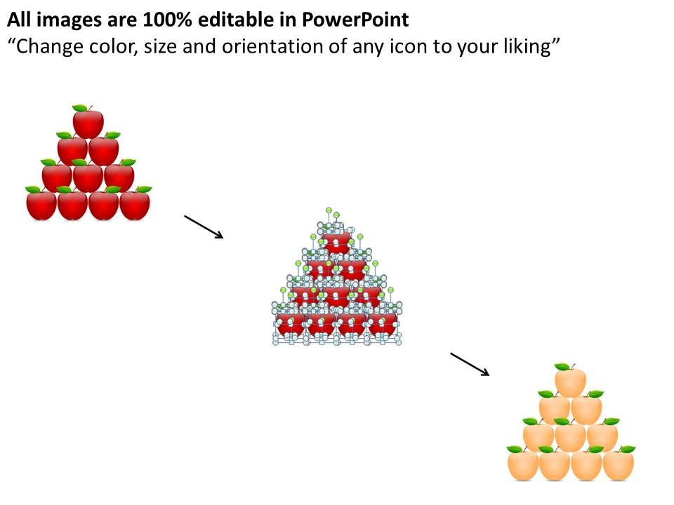1813 business ppt diagram 10 staged pyramid of apples powerpoint, Presentation templates