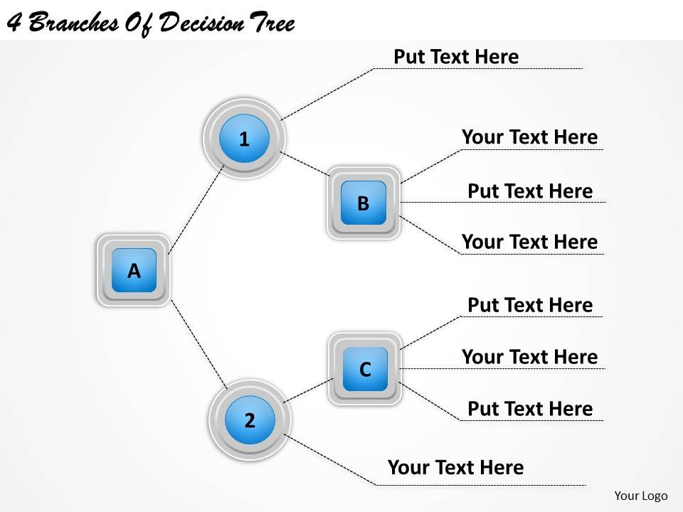 Business Ppt Diagram  Branches Of Decision Tree Powerpoint