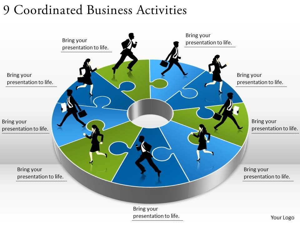 1813_business_ppt_diagram_9_coordinated_business_activities_powerpoint_template_Slide01