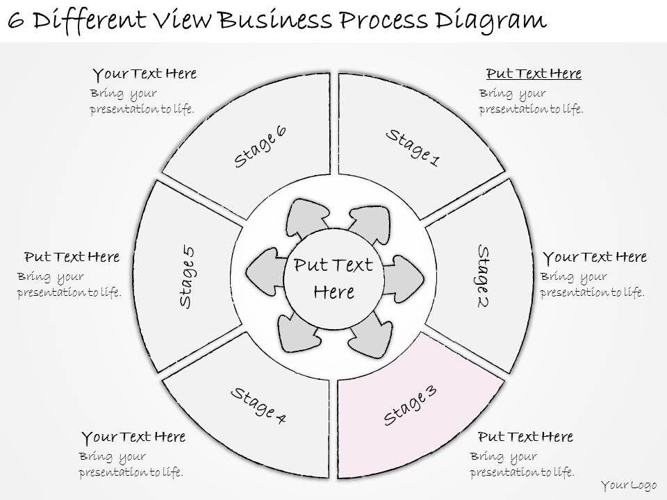1814 Business Ppt Diagram 6 Different View Business Process Diagram