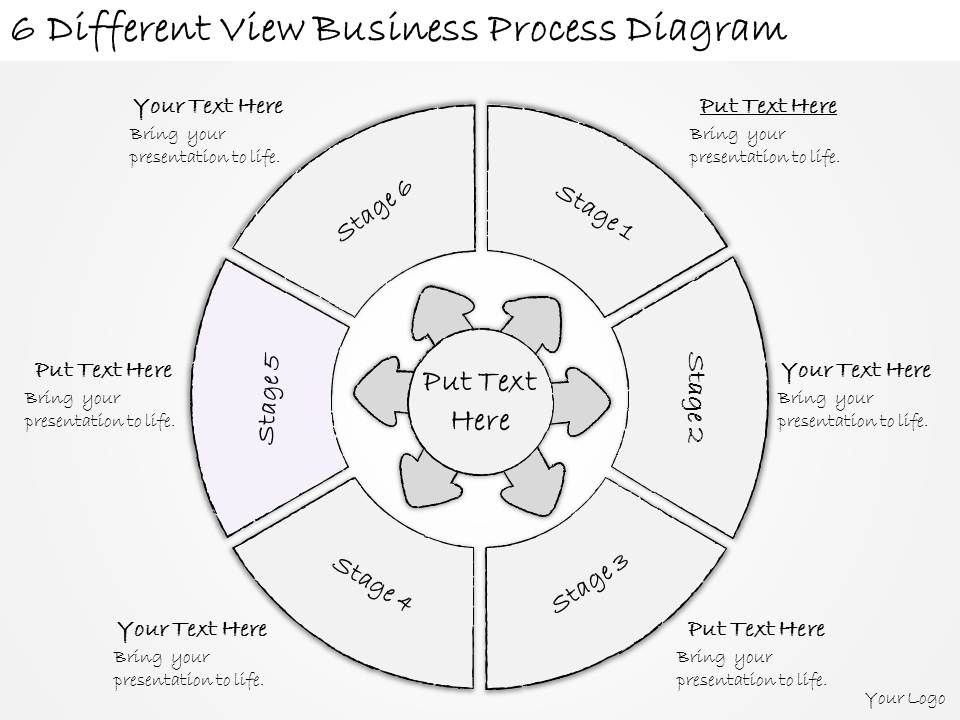 1814businesspptdiagram6differentviewbusinessprocessdiagrowerpointtemplateslide06: Process Flow Diagram Presentation At Teydeco.co