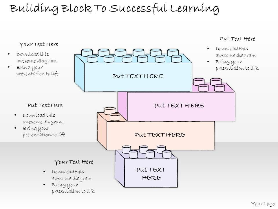 1814_business_ppt_diagram_building_block_to_successful_learning_powerpoint_template_Slide01