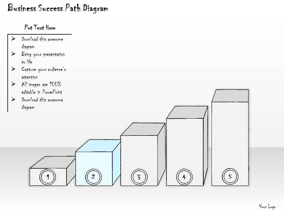 1814 Business Ppt Diagram Business Success Path Diagram Powerpoint Template