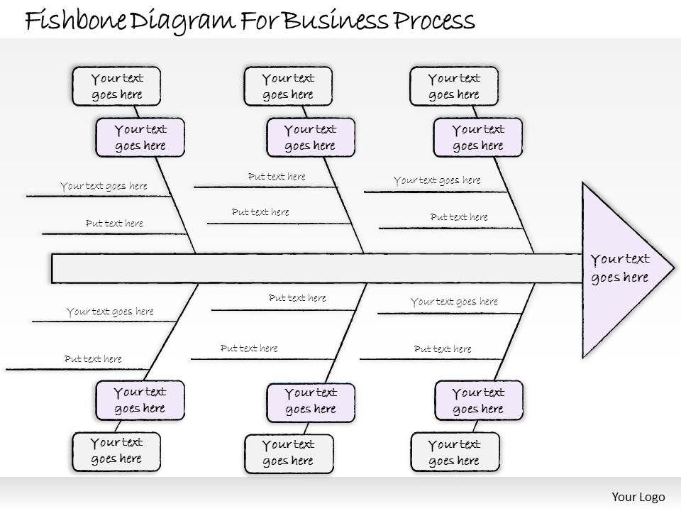 1814 Business Ppt Diagram Fishbone Diagram For Business Process