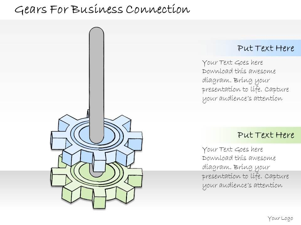 1814 business ppt diagram gears for business connection powerpoint