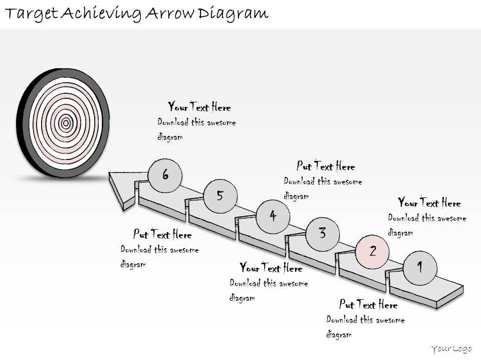 1814 business ppt diagram target achieving arrow diagram