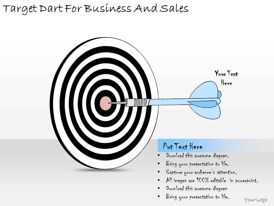 1814_business_ppt_diagram_target_dart_for_business_and_sales_powerpoint_template_Slide01