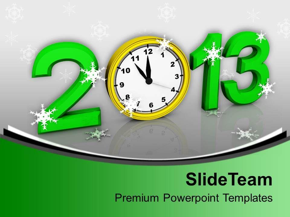 2013_alarm_clock_over_green_background_powerpoint_templates_ppt_backgrounds_for_slides_0113_Slide01