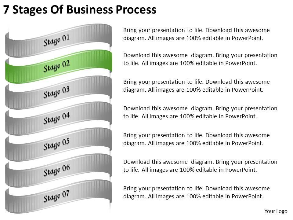 2013 business ppt diagram 7 stages of business process for Business process catalogue template
