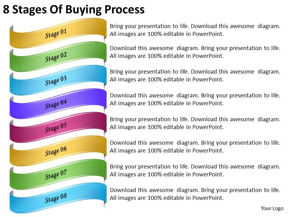 2013 business ppt diagram 8 stages of buying process powerpoint, Presentation templates
