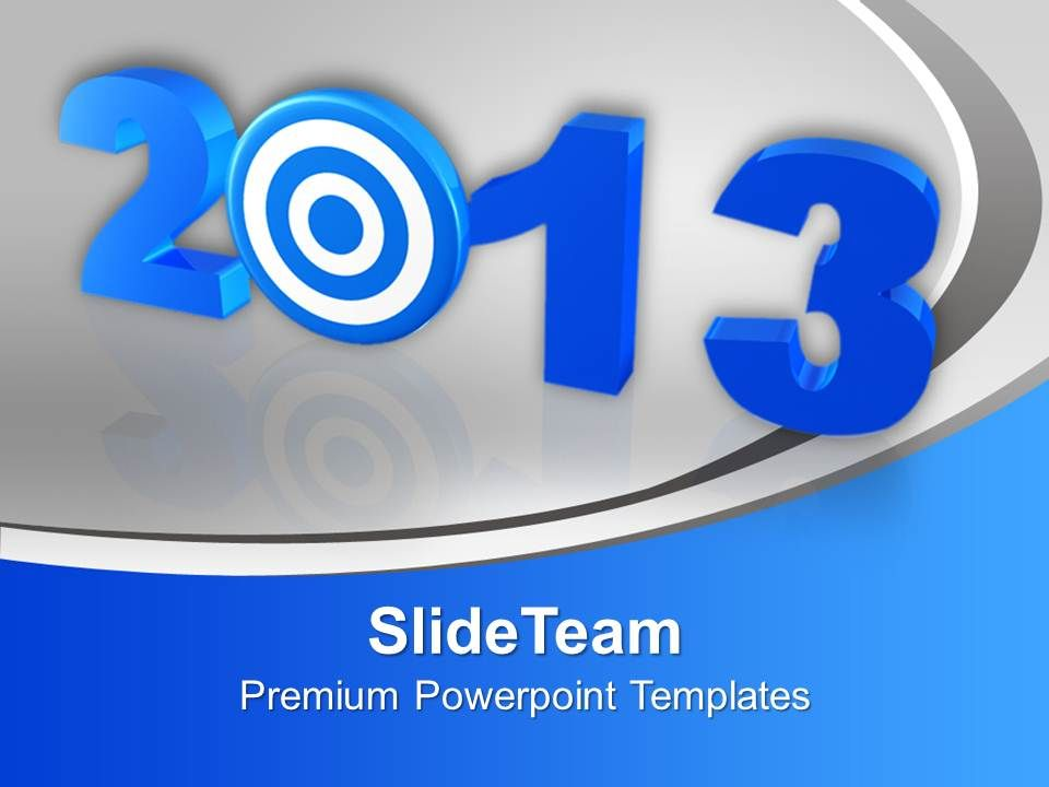 2013 new year target powerpoint templates ppt backgrounds for slides