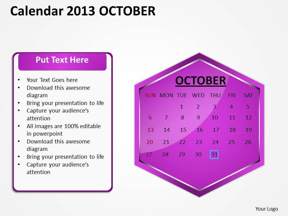 2013_october_calendar_powerpoint_slides_ppt_templates_Slide01