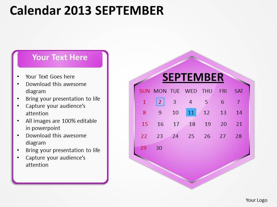 2013_september_calendar_powerpoint_slides_ppt_templates_Slide01