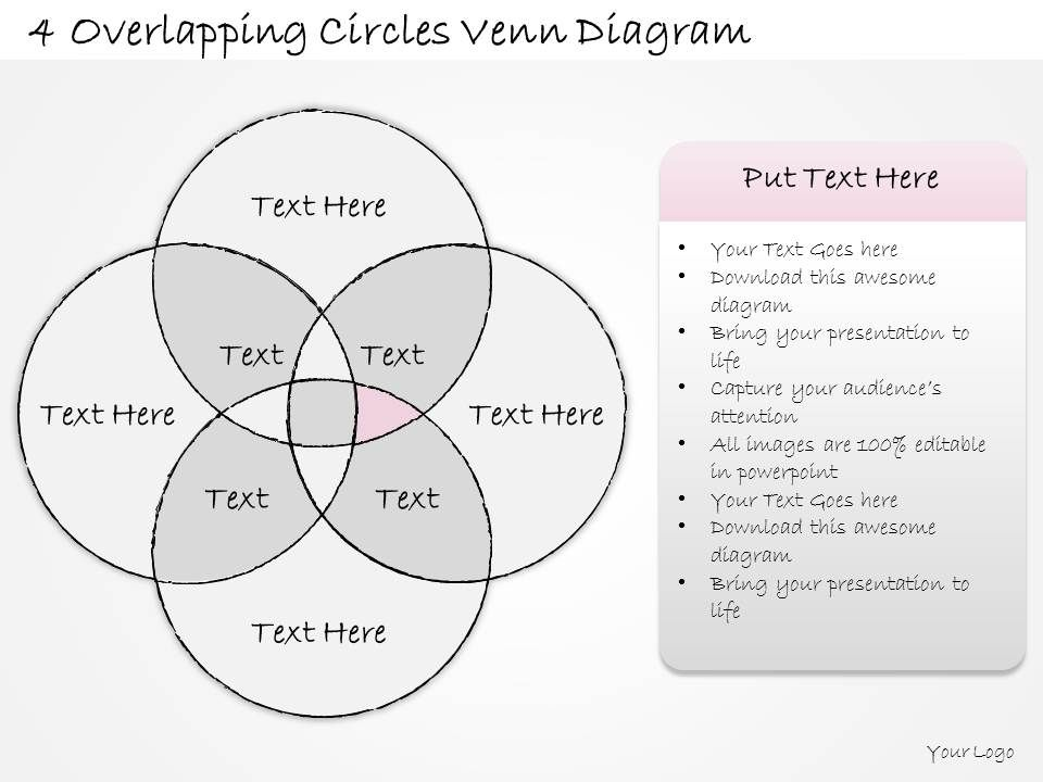 2014 Business Ppt Diagram 4 Overlapping Circles Venn Diagram