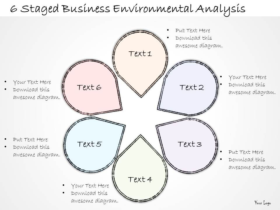 2014 Business Ppt Diagram 6 Staged Business Environmental Analysis