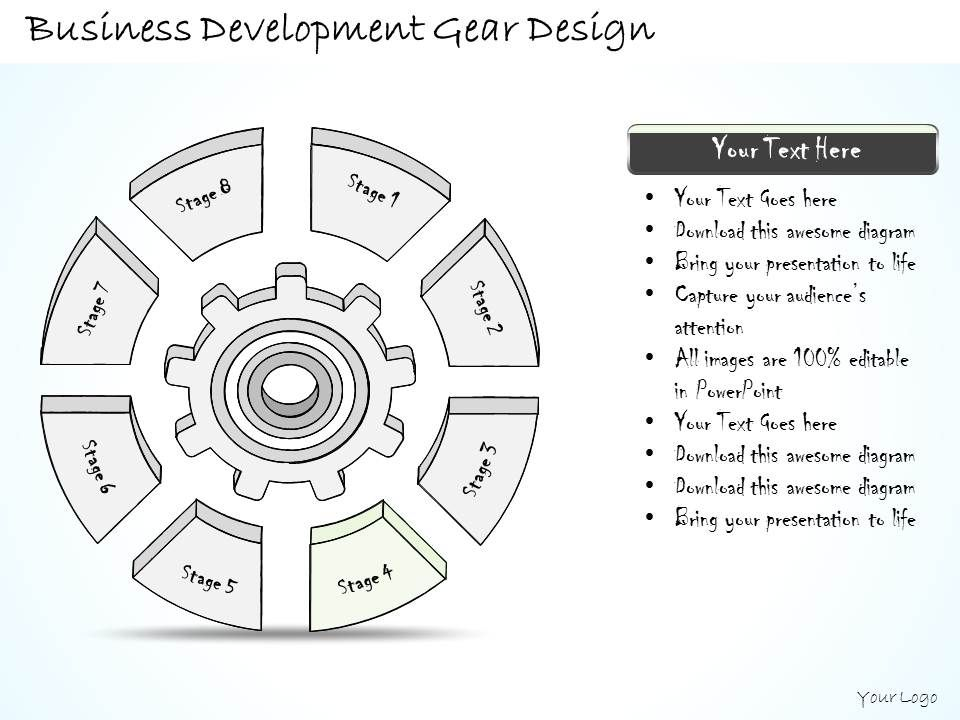 2014 business ppt diagram business development gear design