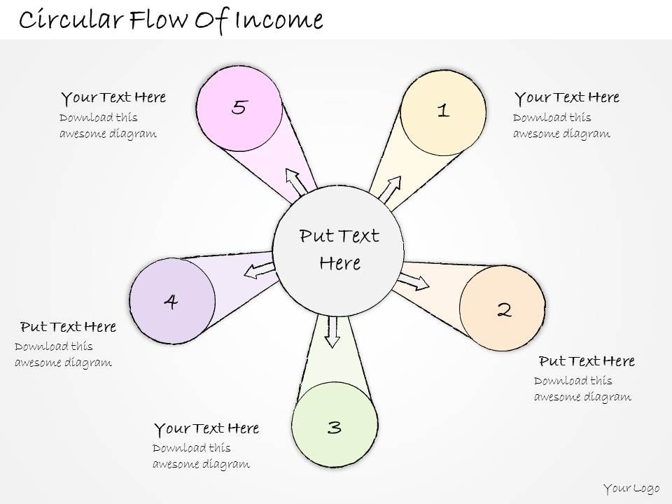 2014_business_ppt_diagram_circular_flow_of_income_powerpoint_template_Slide01
