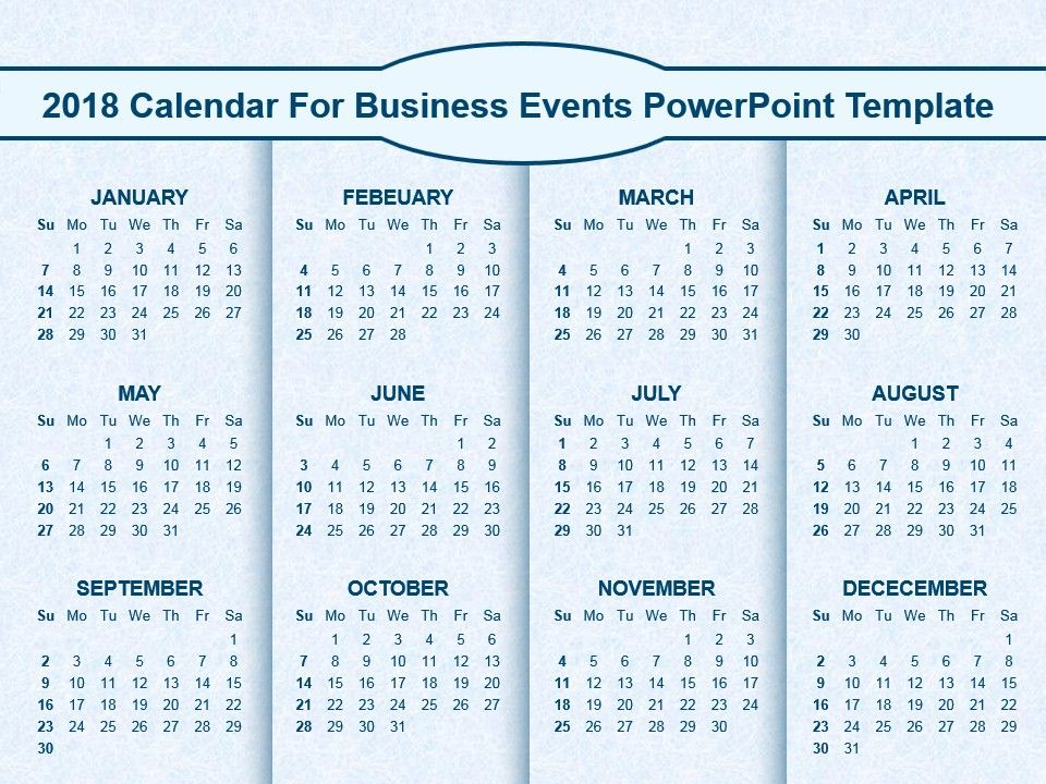 2018 calendar for business events powerpoint template powerpoint 2018 calendar for business events powerpoint template powerpoint templates designs ppt slide examples presentation outline toneelgroepblik Images