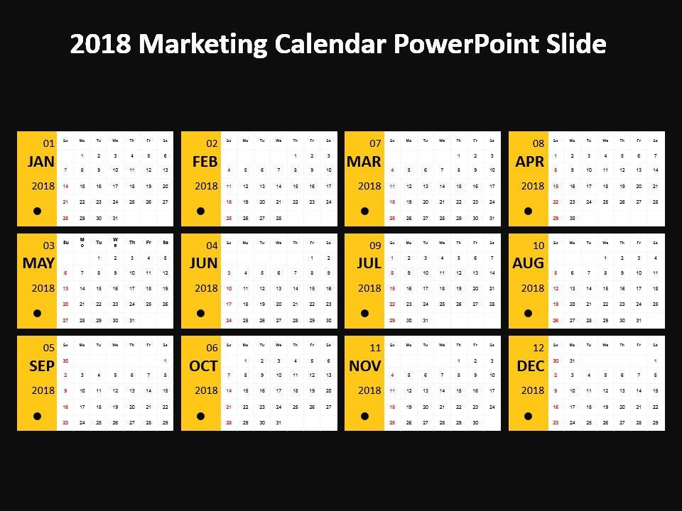 2018 marketing calendar powerpoint slide powerpoint templates 2018 marketing calendar powerpoint slide powerpoint templates download ppt background template graphics presentation toneelgroepblik Images