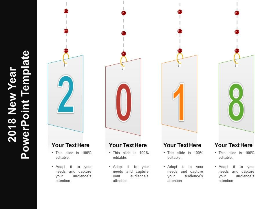 2018 new year powerpoint template powerpoint slides diagrams