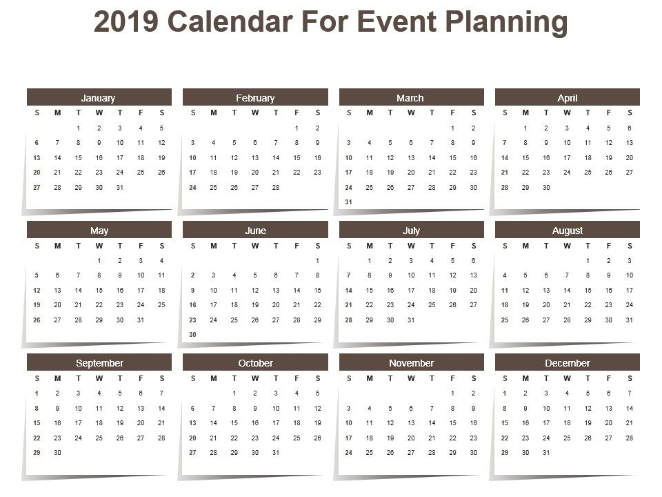 2019_calendar_for_event_planning_powerpoint_template_Slide01.  2019_calendar_for_event_planning_powerpoint_template_Slide02