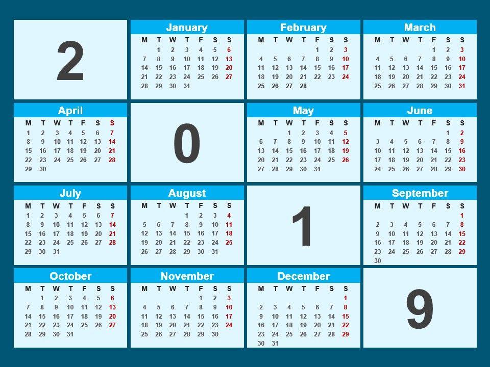 2019 Calendar Powerpoint Template | PowerPoint Presentation Designs | Slide  PPT Graphics | Presentation Template Designs