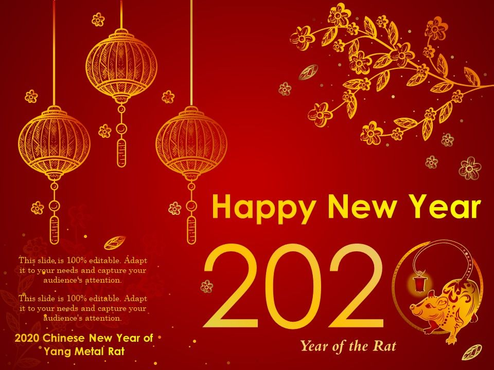 2020 Chinese New Year Of Yang Metal Rat Ppt Outline